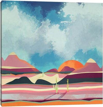 Pink Desert Glow Canvas Art Print