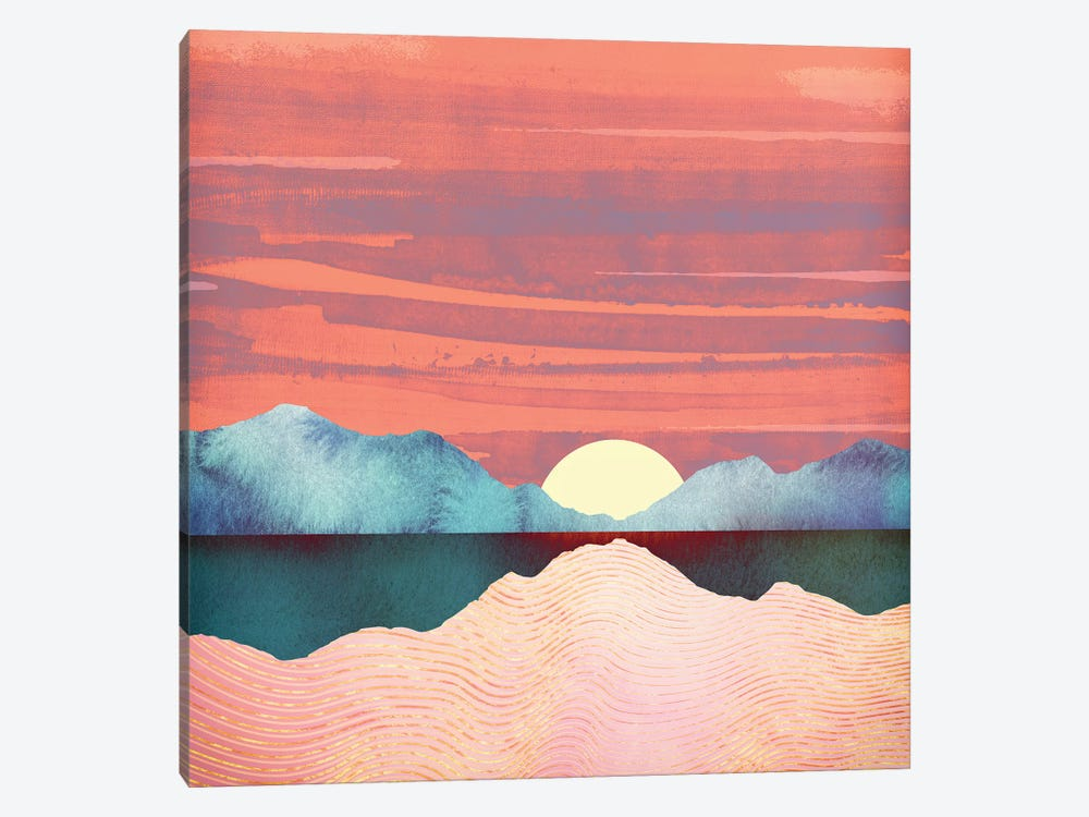 Pink Oasis by SpaceFrog Designs 1-piece Canvas Print