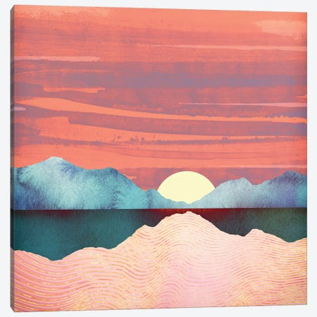 Pink Oasis Canvas Print #SFD86} by SpaceFrog Designs Canvas Art