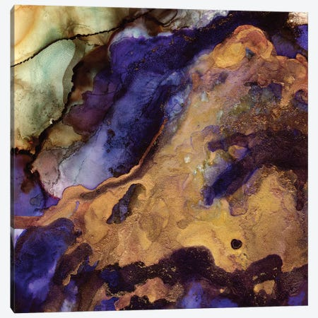 Purple And Gold Abstract Canvas Print #SFD88} by SpaceFrog Designs Canvas Print
