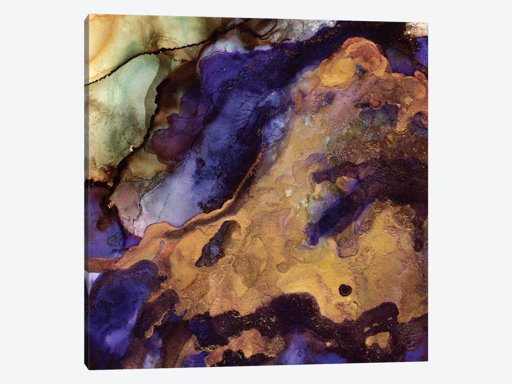 Purple And Gold Abstract by SpaceFrog Designs 1-piece Art Print