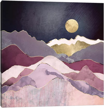 Raspberry Dream Canvas Art Print