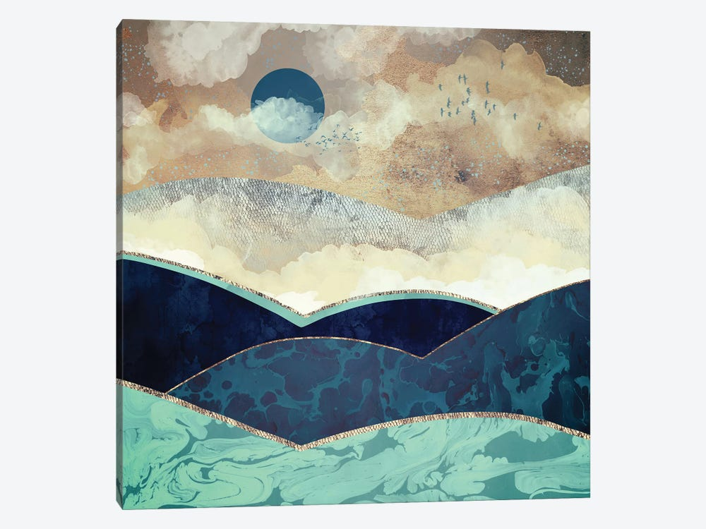 Blue Moon by SpaceFrog Designs 1-piece Canvas Art Print