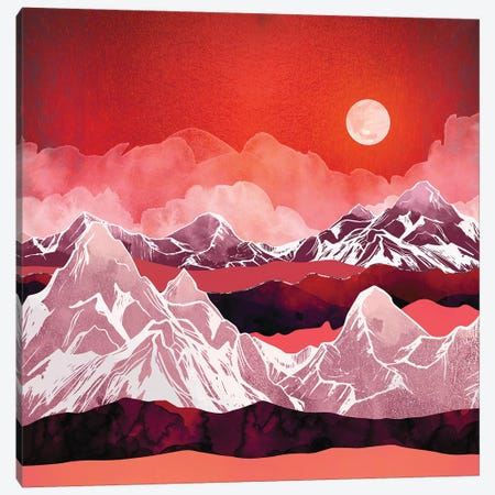 Scarlet Glow Canvas Print #SFD92} by SpaceFrog Designs Canvas Wall Art