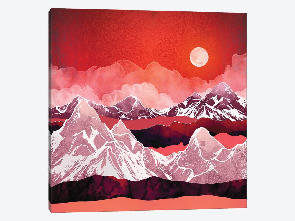 Scarlet Glow by SpaceFrog Designs 1-piece Canvas Wall Art
