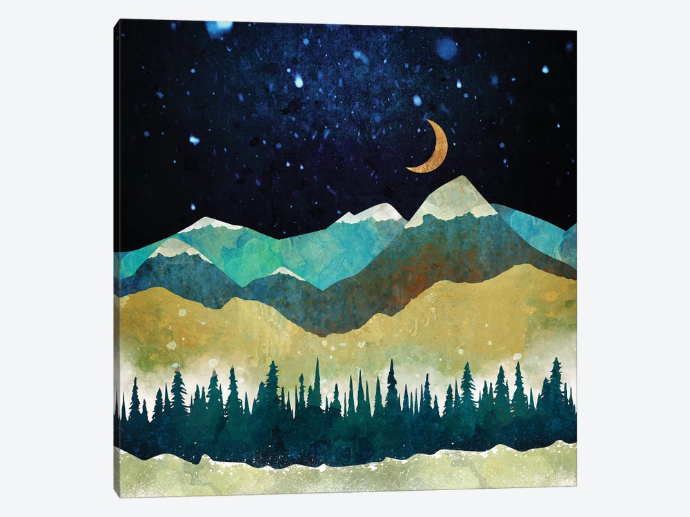 Snow Night by SpaceFrog Designs 1-piece Canvas Print