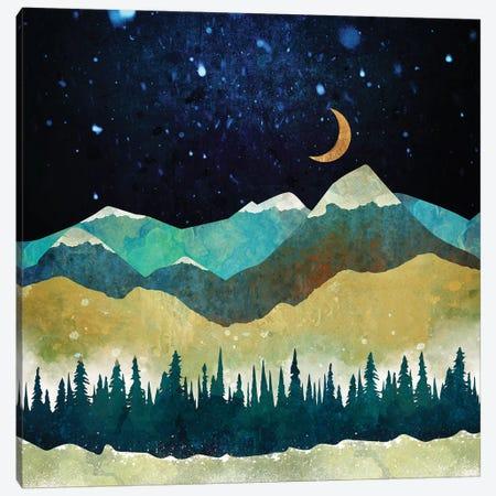 Snow Night Canvas Print #SFD93} by SpaceFrog Designs Canvas Art