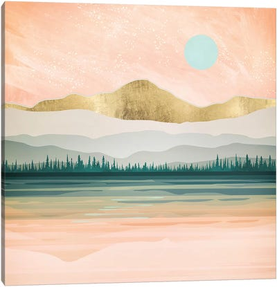 Spring Forest Lake Canvas Art Print
