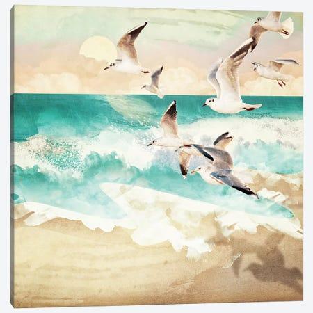 Summer Flight Canvas Print #SFD99} by SpaceFrog Designs Canvas Wall Art