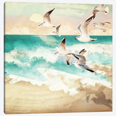 Summer Flight Canvas Print #SFD99} by SpaceFrog Designs Canvas Wall Art