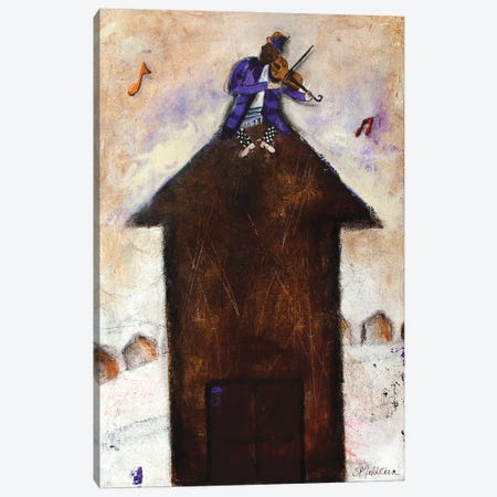 The Fiddler Canvas Print #SFE22} by Sharon Feldstein Canvas Artwork