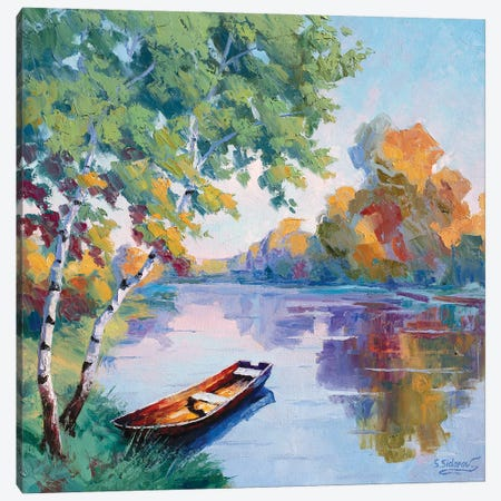 Solitary Pond Canvas Print #SFI101} by Sidorov Fine Art Art Print