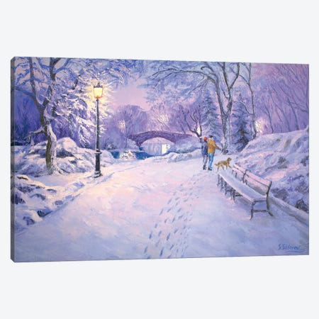 Crisp Winter Evening Canvas Print #SFI10} by Sidorov Fine Art Canvas Art Print