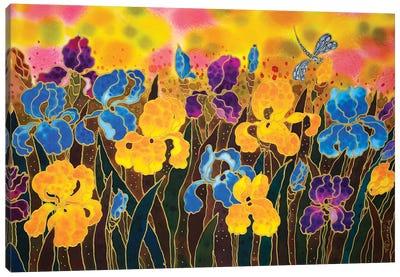 Iris Garden Canvas Art Print