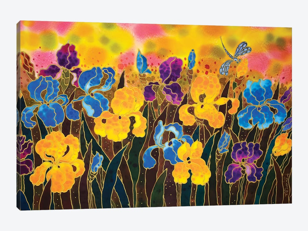 Iris Garden by Sidorov Fine Art 1-piece Canvas Print
