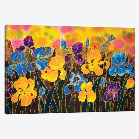 Iris Garden Canvas Print #SFI18} by Sidorov Fine Art Canvas Art Print