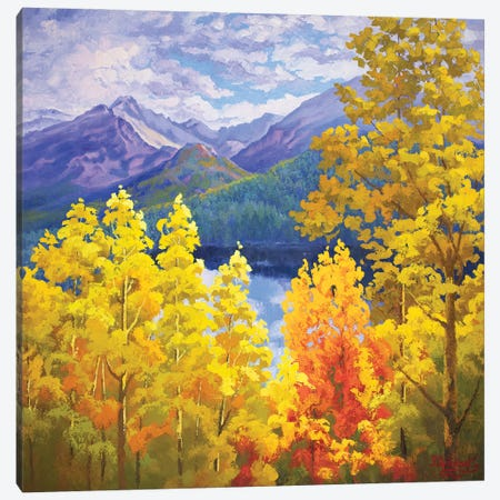 Long Peak Colorado Fall Canvas Print #SFI20} by Sidorov Fine Art Canvas Wall Art
