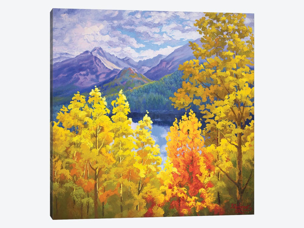 Long Peak Colorado Fall 1-piece Canvas Artwork