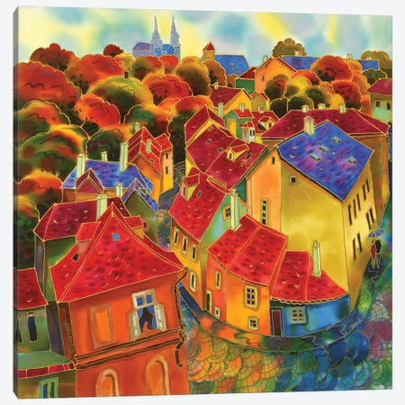 Red Roofs Prague Canvas Print #SFI29} by Sidorov Fine Art Canvas Wall Art