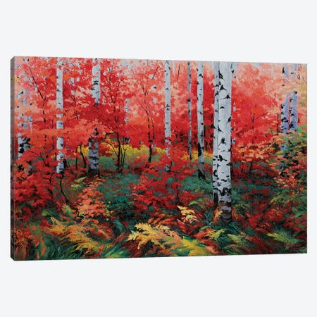 A Ruby Red Autumn Canvas Print #SFI2} by Sidorov Fine Art Art Print
