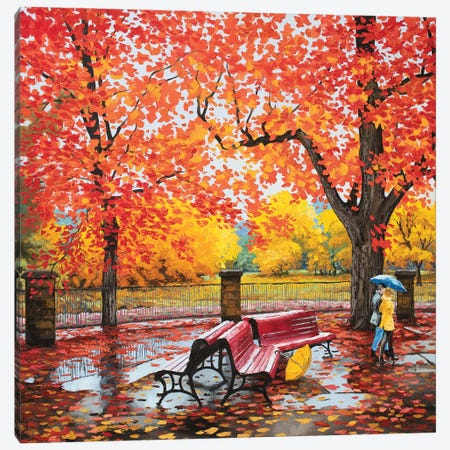 Reds And Yellows Canadian Autumn  Canvas Print #SFI30} by Sidorov Fine Art Canvas Print