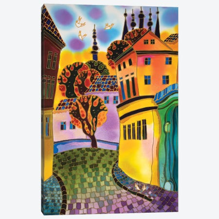 Small Street Prague Canvas Print #SFI34} by Sidorov Fine Art Canvas Wall Art