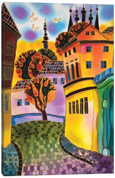 Small Street Prague Canvas Art Print