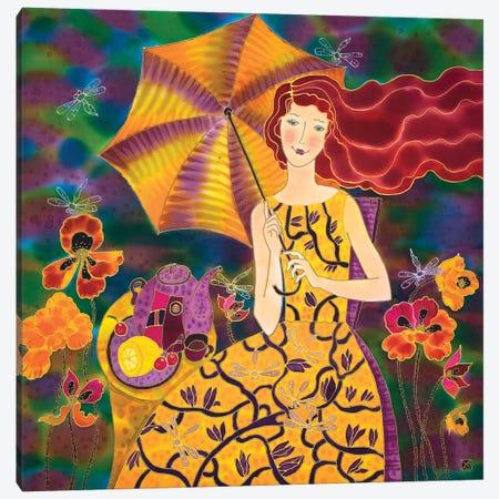 Summer Tea Time Canvas Print #SFI35} by Sidorov Fine Art Canvas Wall Art