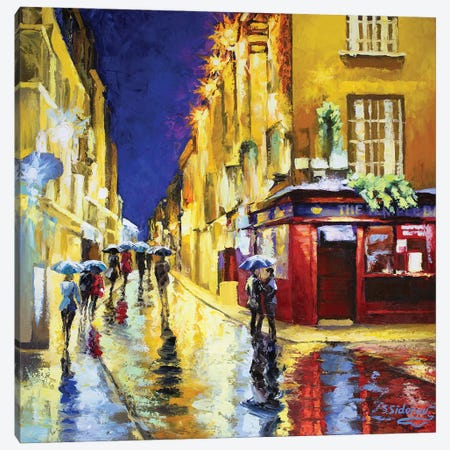 The Temple Bar Dublin Ireland Canvas Print #SFI37} by Sidorov Fine Art Canvas Wall Art