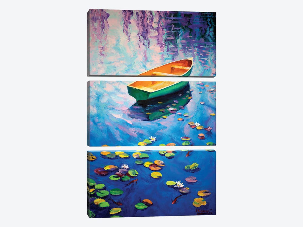 Secluded Pond 3-piece Canvas Wall Art