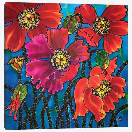 Amazing Poppies Canvas Print #SFI4} by Sidorov Fine Art Canvas Wall Art