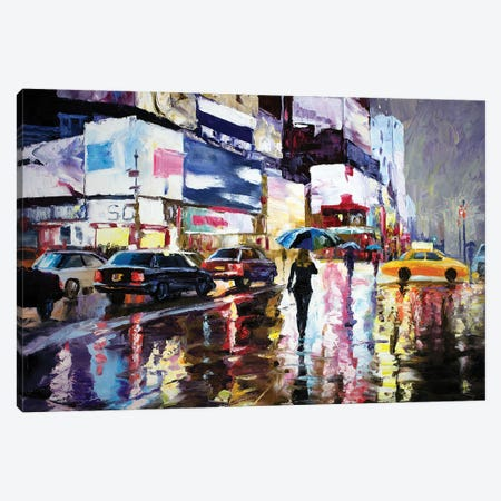 Late Night. New York Canvas Print #SFI54} by Sidorov Fine Art Canvas Wall Art