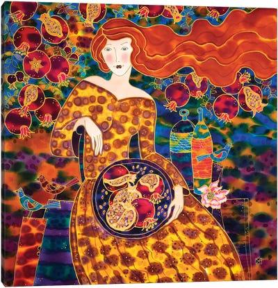 Pomegranate Harvest Time. Canvas Art Print