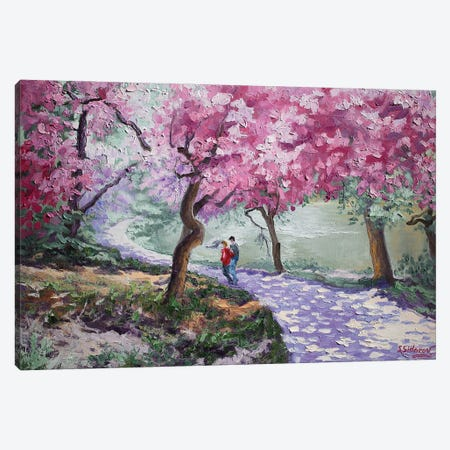 Cherry Blossom. Central Park New York Canvas Print #SFI69} by Sidorov Fine Art Canvas Art