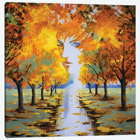 Autumn Goddess  Canvas Print #SFI6} by Sidorov Fine Art Canvas Art