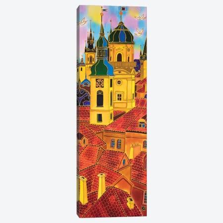 Red Roofs. Prague Canvas Print #SFI76} by Sidorov Fine Art Canvas Art