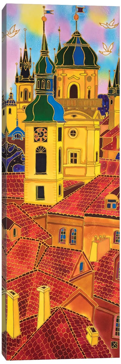 Red Roofs. Prague Canvas Art Print