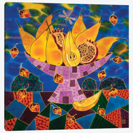 Still Life With Pears. Canvas Print #SFI77} by Sidorov Fine Art Canvas Wall Art