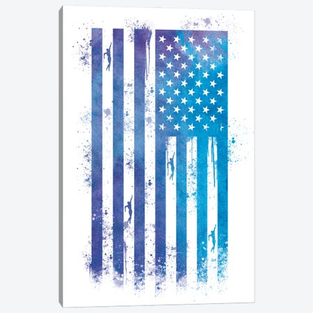 Swimming Sports Flag Canvas Print #SFL10} by 5by5collective Canvas Art