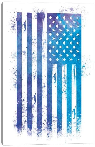 Swimming Sports Flag Canvas Art Print