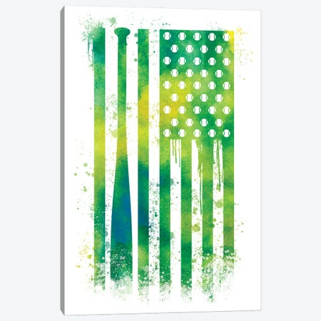 Baseball Sports Flag Canvas Print #SFL2} by 5by5collective Canvas Artwork