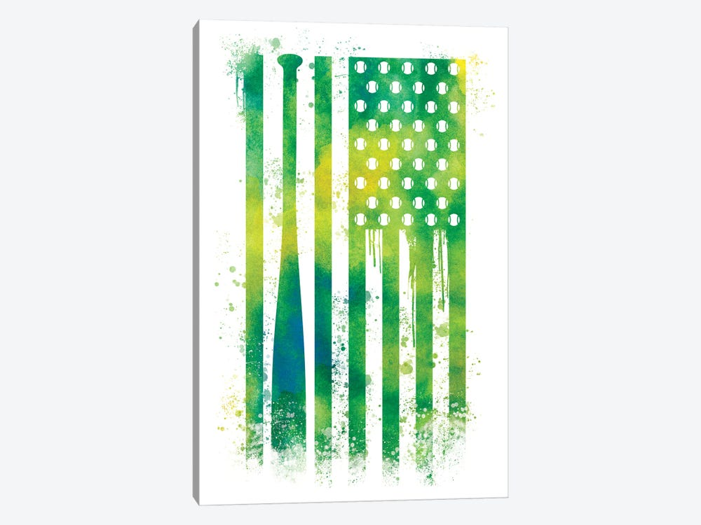 Baseball Sports Flag by 5by5collective 1-piece Canvas Print