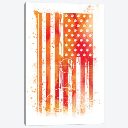 Basketball Sports Flag Canvas Print #SFL3} by 5by5collective Canvas Artwork