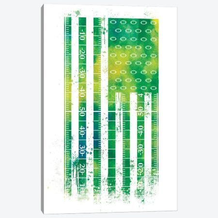 Football Sports Flag Canvas Print #SFL5} by 5by5collective Art Print
