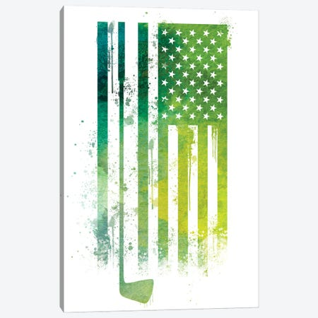 Golf Sports Flag Canvas Print #SFL6} by 5by5collective Canvas Print