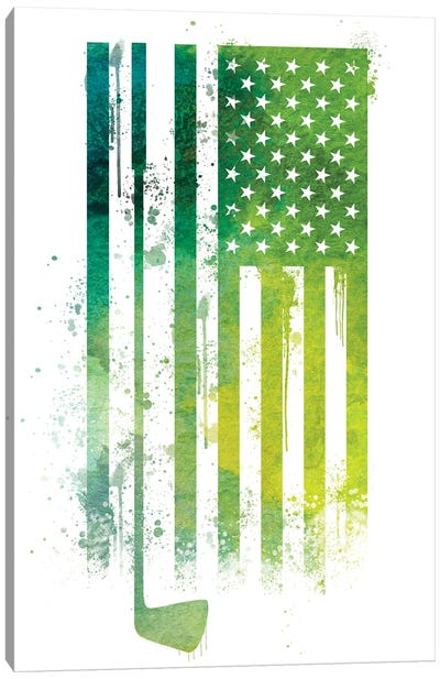 Golf Sports Flag Canvas Art Print