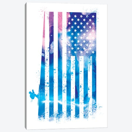 Skiing Sports Flag Canvas Print #SFL7} by 5by5collective Art Print