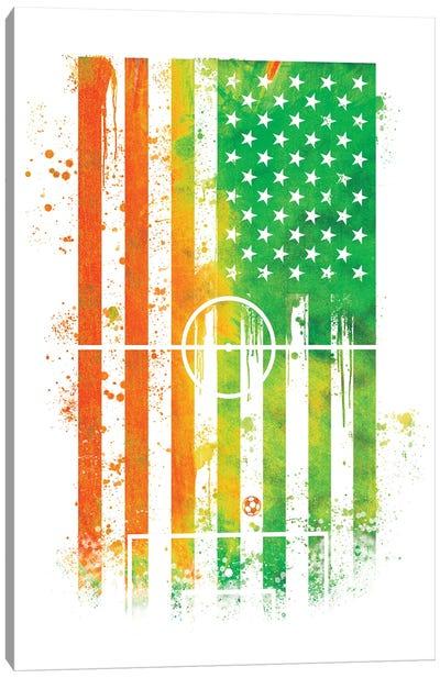 Soccer Sports Flag Canvas Art Print