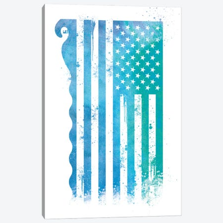 Surfing Sports Flag Canvas Print #SFL9} by 5by5collective Canvas Art