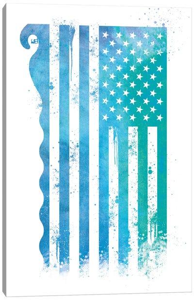 Surfing Sports Flag Canvas Art Print